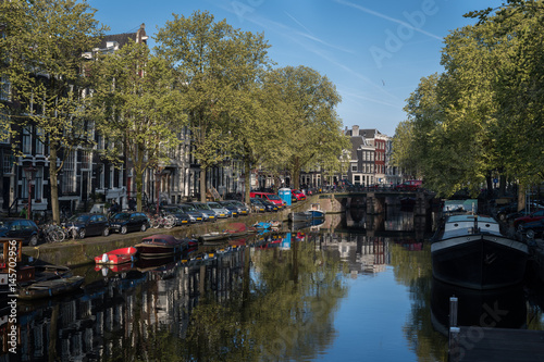 Photo  Spring on Brouwersgracht canal, Amsterdam
