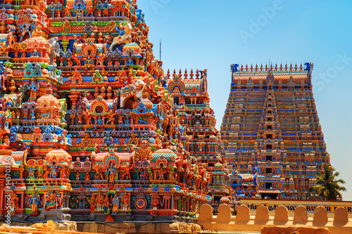 Photo sur Toile Edifice religieux Temple of Sri Ranganathaswamy in Trichy.