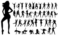 Silhouette Of A Girl Dancing, ...
