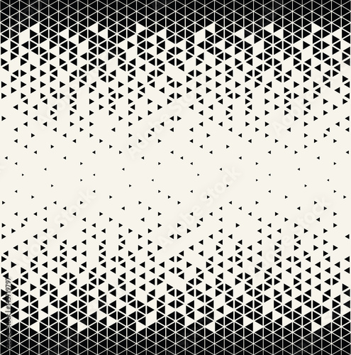 Photo  abstract geometric triangle halftone gradient seamless vector pattern
