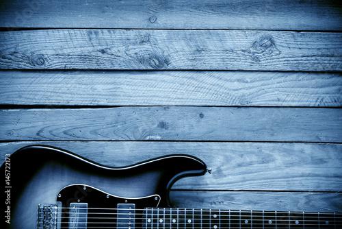 blues guitar background Fototapeta