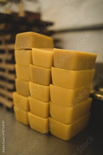 Tuinposter Buffet, Bar Beeswax bars in factory