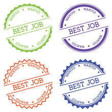 Best Job Wanted Badge Isolated...