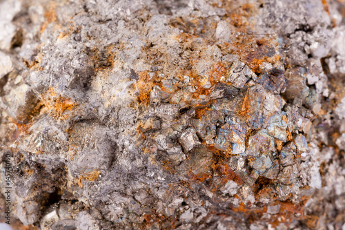 stone macro mineral arsenopyrite on a white background Wallpaper Mural