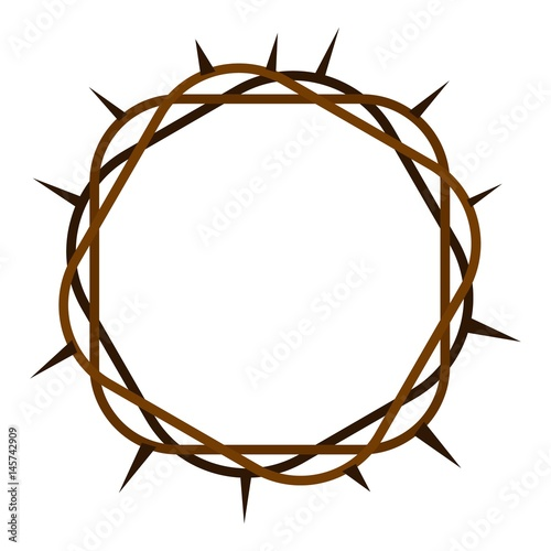 Carta da parati Crown of thorns icon isolated