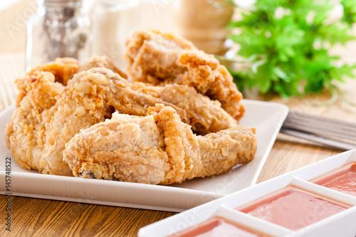 Foto op Aluminium Kip Fried chicken