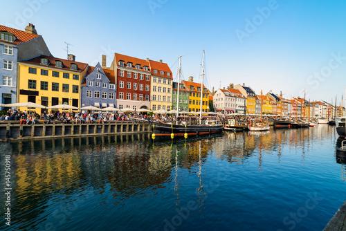 Nyhavn harbour in copenhagen denmark Poster