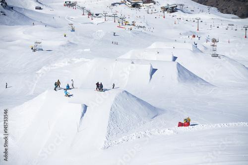Fényképezés Snow park in ski resort