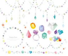 宝石 素材