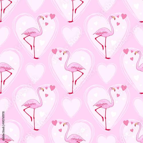wektor-rozowy-flaming-ptak-wzor-recznie-rysowane-szkic-z-dzikim-zwierzeciem-romantyczny-styl-projektowania-walentynki-z-ptakow-i-serca