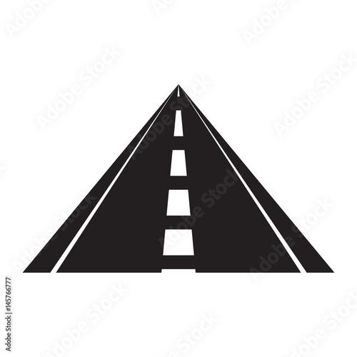 Fototapety, obrazy: vector triangle road shape icon