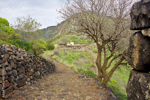 Fotografiet Road from ruins in Gamla, Israel