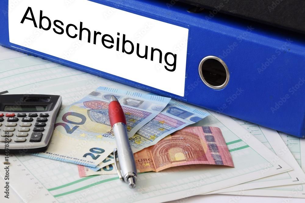 Finanzen Steuererklarung Abschreibung Foto Poster Wandbilder