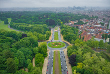 View From The Top Of The Atomium In Brussels Towards City Center