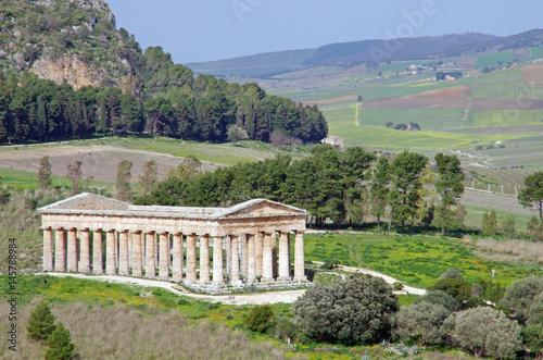 temple de hera ségeste sicile Canvas Print