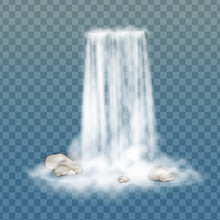 Realistic Vector Waterfall Wit...