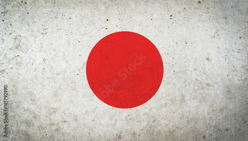 Grunge vintage Japan flag for texture background. Concept memorial of international. Vintage and grunge style. #145792990
