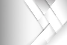 Abstract White And Grey Background Basic Geometry Overlaps With Shadow Vector Illustration 002