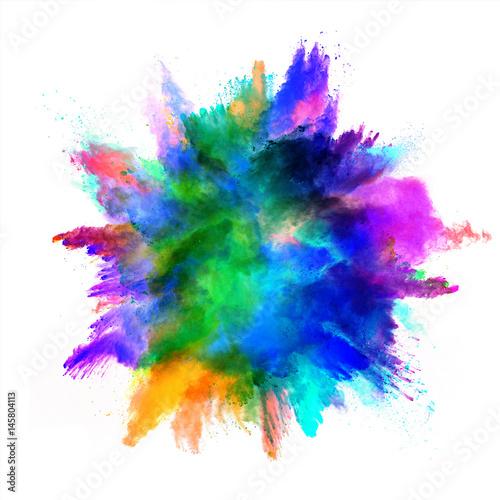 canvas print motiv - Jag_cz : Explosion of colored powder on white background