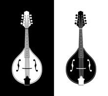 Flat Detailed Vector Illustration Of Mandolins