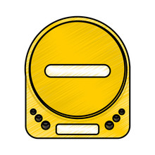 Diskman Music Player Icon Vector Illustration Design