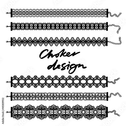 Fotomural Choker design. Collection of chokers.