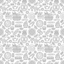 Bakery Seamless Pattern, Food ...