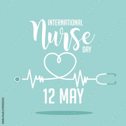 Fotografie, Obraz  International Nurse Day icon design.  EPS 10 vector.
