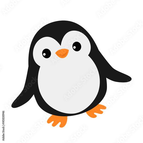 Fototapeta premium Simple happy penguin