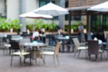Blured Cafe Restaurant On Outd...