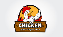 Chicken Logo Cartoon Character...