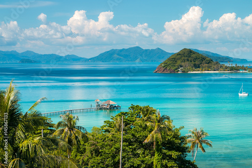 Photo  Koh Mak Island Viewpoint at Trat in Thailand Summer Season
