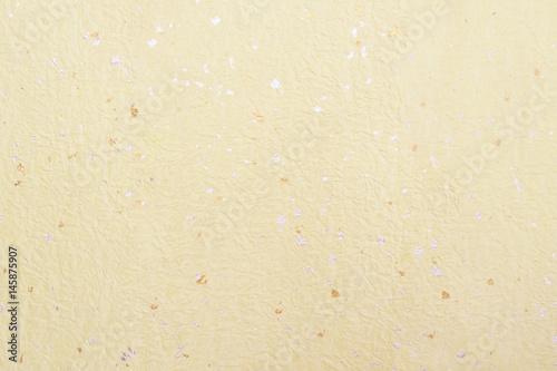 Fotografie, Obraz  和紙背景素材-ベージュ金箔銀箔