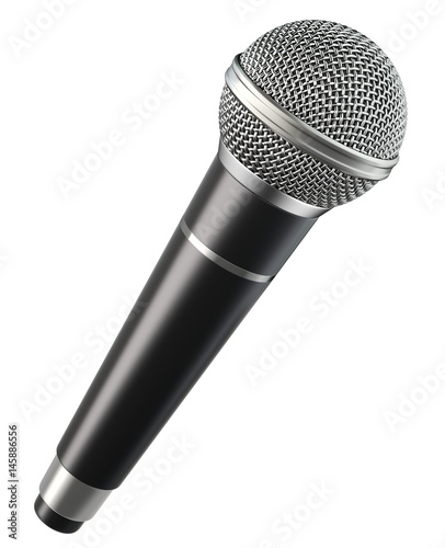 Fotografija Wireless microphone isolated on white background
