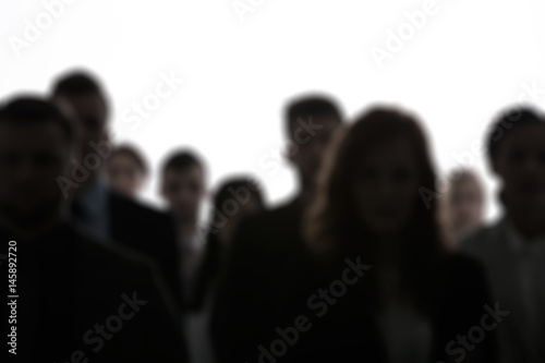 Blurred people silhouettes Wallpaper Mural