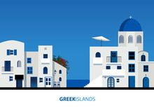 Greek Islands. View Of Typical...