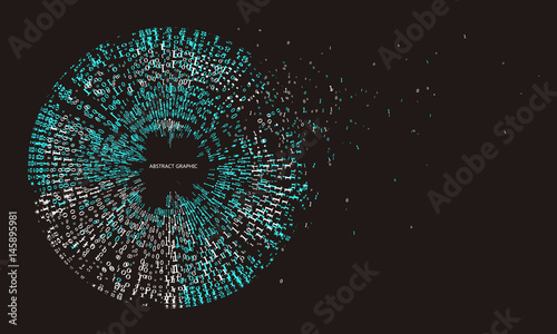 Fotografía  An abstract background consisting of binary numbers.