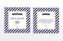 Marine Nautical Wedding Invita...