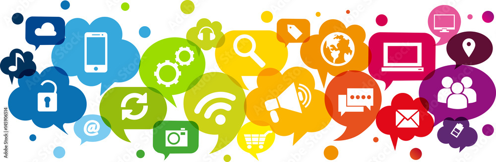 Fototapeta Comunicare, Dialogare, Rete
