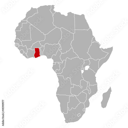 Ghana Karte.Ghana Auf Afrika Karte Buy This Stock Vector And Explore