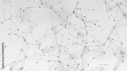 beautiful cg generated 3d abstract background with geometry lines and dots