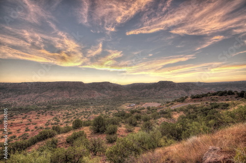 Recess Fitting Salmon Sunrise, Palo Duro Canyon,Texas