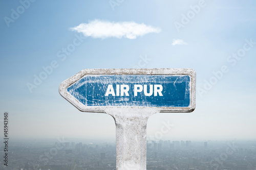 Fotografía  fresh air pollution respirer pur qualité polluer co2 particule ville zone urbain