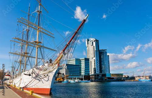 Sailing frigate in harbor of Gdynia © Oleksandr