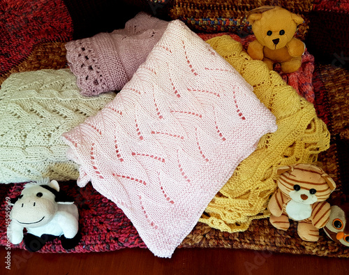 Fototapeta Pink cotton blanket obraz na płótnie