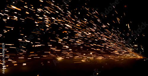 Fototapeta bright sparks of metal