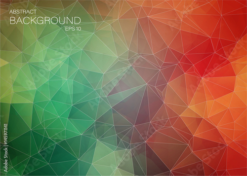Flat colorful abstract trianglify background