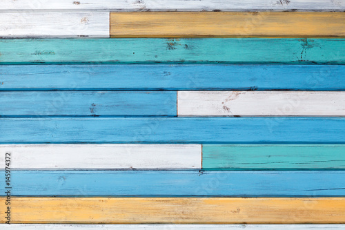 Naklejka na szybę Abstract background of painted boards
