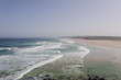 A panorama view of beautiful Bordeira beach, famous surfing place in Algarve region, Portugal