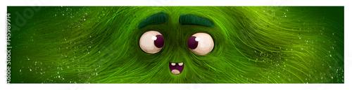Fotografía cara de monstruo verde